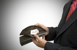 Wallet with help sign